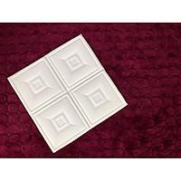 Combo 10 tấm xốp dán tường giả da họa tiết ô vuông kích thước 60cm x 60cm trẻ trung , lãng mạn