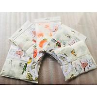 Combo 5 Bộ Quần Áo Trẻ Sơ Sinh Cao Cấp Sợi Cotton Fiber Bamboo Dành Cho Bé 0-3 Tháng Tuổi ( Màu Ngẫu Nhiên )