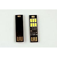 Đèn 6 led mini siêu mỏng cảm ứng chạm thông minh (Tặng quạt mini cắm cổng USB vỏ thép- Giao màu ngẫu nhiên)