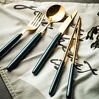 Set 4 món dao muỗng nĩa cao cấp dùng phòng ăn khách sạn, nhà hàng