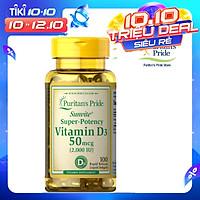 Thực Phẩm Chức Năng - Viên Uống Bổ Sung Vitamin D Tăng Cường Hệ Miễn Dịch, Phòng Chống Còi Xương Sunvite High-Potency Vita D3 1000IU (100 Viên)