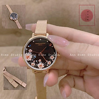 Đồng hồ nữ dây kim loại Aborni London Hoa Thanh Lịch DH052111 NHẬN 3 QUÀ