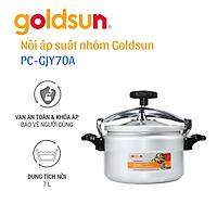 Nồi áp suất điện nhôm Goldsun 7 lít PC-GJY70A (Hàng chính hãng)