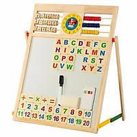 Bảng gỗ 2 mặt học chữ và số cho bé