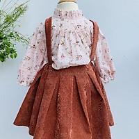 Váy Trẻ Em à ế ế  Thời Trang Trẻ Em Áo Sơ Mi Thô Hàn Kèm Chân Váy Cho Bé Từ 1 Tuổi Đến 8 Tuổi