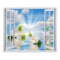 Tranh dán tường cửa sổ 3D T3DMN 016