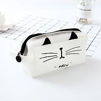 Bóp Viết Hình Mèo - Ngăn Lớn Đựng Được Máy Tính Casio