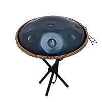 10 Notes Handpan Hand Pan Hand Drum Percussion Instrument Musical Gift with Drum Stick Cleaning Cloth Metal Stand Carry