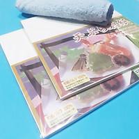 Set 100 giấy thấm dầu mỡ thực phẩm hàng Nhật tặng khăn lau 7DAYS