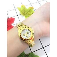 Đồng hồ đeo tay nam nữ unisex thời trang ZO55 dây đeo vàng sang trọng cực đẹp