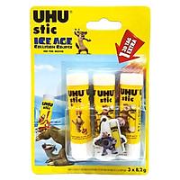 UHU - Vỉ 3 Hồ Khô 8.2G Ice Age