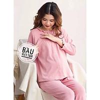 Bộ đồ bầu sau sinh mặc nhà Hàn Quốc chất cotton thoáng mát cho mẹ bầu và cho con bú - Tổng kho đồ bầu