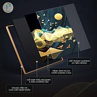 Tranh Tráng Gương Cao Cấp Treo Tường Hiện Đại _ Tranh Điêu Khắc 3D