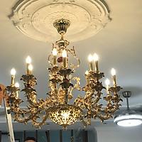 Đèn chùm bóng nến 15 bóng mạ đồng 18025
