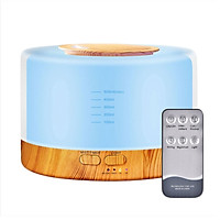 Máy xông tinh dầu sóng siêu âm cao cấp vân gỗ - Có Remote. Máy khuếch tán tinh dầu giúp tỏa hương, tạo độ ẩm, làm thơm phòng