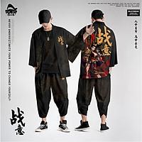 Set đồ Haori nam Kimono Yunhe Jiuxiao phong cách Nhật Bản siêu chất BSK01