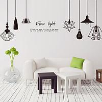 Decal dán tường đèn trang trí ZOOYOO DLX5206