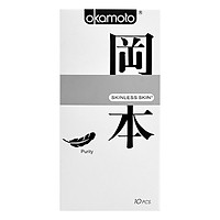 Hộp 10 Bao Cao Su Siêu Mỏng Okamoto Purity