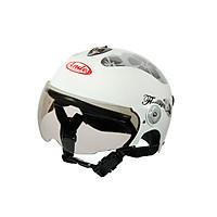Mũ Bảo Hiểm Andes Nửa Đầu Có Kính - 3S108ME Tem Bóng S2