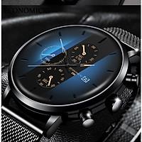 Đồng hồ nam business VINIEL thiết kế economicxi chất liệu dây thép phong cách thanh lịch VE118 Hàng Chính Hãng