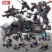 Bộ đồ chơi xếp hình cảnh sát Biệt Đội SWAT 8 in 3 với hơn 520 chi tiết với robot, máy bay, xe cảnh sát kèm sách hướng dẫn