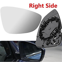 1 PCS Side Mirror Glass FIT FOR VW EOS CC Heated W/Holder Right Side