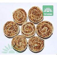 Chuối cuộn hạt mè TƯ BÔNG cao cấp 350g - ít ngọt thơm ngon từ Đồng Tháp