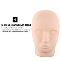 19PCS False Eyelash Extension Practice Tool Kit Eyelashes Make Up Head Model Individual False Lash Curl Glue Tweezers