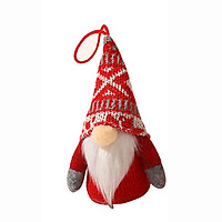 Christmas Decoration with Light, Light-up Faceless Old Man Knitted Wool Rudolph Doll Mall Window Decoration Props