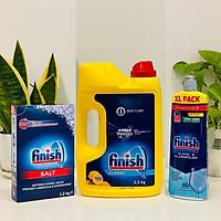 Combo Bột rửa bát finish 2.5kg+Nước làm bóng finish 800ml+Muối rửa bát finish 1.5kg dùng cho Máy rửa bát