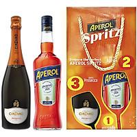 Set Cocktail Rượu Mùi 01 Chai Aperol (700 ml) 11% + 01 Chai Vang Nổ Cinzano Prosecco (750 ml) 11% - Kèm Hộp