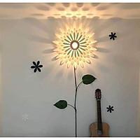 Đèn tường gỗ bông hoa cao cấp ALTT57, tặng kèm bóng led 5W
