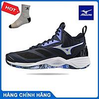Giày bóng chuyền MIZUNO WAVE MOMENTUM 2 MID V1GA211702, giày cầu lông nam - tặng tất thể thao bendu chính hãng