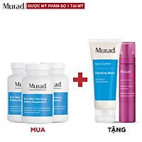 Mua 3 Viên uống Murad Pure Skin Clarifying Dietary Supplement 120 viên Tặng Clarifying Mask 75g + Prebiotic 3-In-1