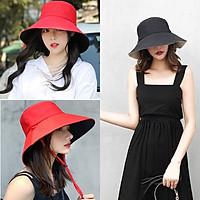 Mũ rộng vành đi biển, mũ Bucket nữ, nón vành rộng che nắng siêu dễ thương MD04