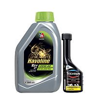 Bộ dầu nhớt xe số cao cấp Caltex Havoline Ezy 4T SAE 20W-40 800ml + Dung môi pha xăng