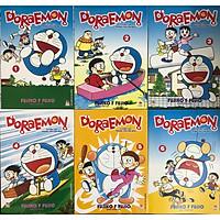 Combo Doraemon Tuyển Tập Tranh Truyện Màu ( Bộ 6 Cuốn ) - Tặng Kèm Sổ Tay