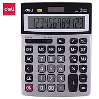 Máy tính Deli Kim loại 12 số, Bạc E1616