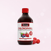 Nước diệp lục giúp thanh lọc thải độc cơ thể vị dâu Swisse Chlorophyll Mixed Berry  (500ml)