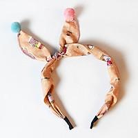 Cài tóc băng đô tai thỏ cho bé yêu phong cách Hàn Quốc phối vải bông nhiều họa tiết và màu sắc xinh xắn – P148