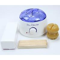 Combo Wax Lông Gồm: 1 Nồi Nấu Sáp Wax Pro 100 Loại 1 + 200Gram Sáp Wax Thỏi + 100 Tờ Giấy Wax + 25 Que Trét Sáp