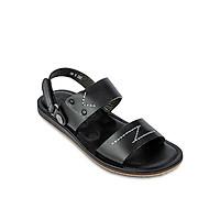 Giày Sandals Nam Da Bò DATINNOS (Đen Nâu) - AHSD207