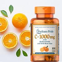 Vitamin C 1000mg 100 viên giúp hỗ trợ tăng cường sức đề kháng, ngăn ngừa cảm cúm, hỗ trợ hệ miễn dịch của Puritan's Pride