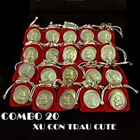 Combo 20 đồng xu con Trâu cute tặng túi gấm 2021 (giao mẫu ngẫu nhiên), đường kính đồng xu 4cm, mang lại may mắn, tài lộc, dùng làm quà tặng Lễ, Tết may mắn, ý nghĩa - TMT Collection - SP005114