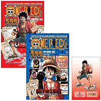 Bộ One Piece 500 Quiz Book (Tập 1 + Tập 2) - Tặng Kèm Standee PVC Luffy