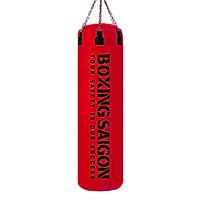 Bao cát đấm bốc Boxing 1m2 dây xích đỏ đậm - Tặng móc treo bao