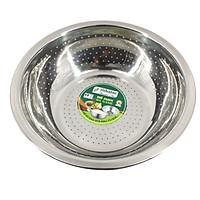 Rổ inox 201 đa năng dùng để vo gạo, đựng hoa quả đường kính 26 cm Tithafac