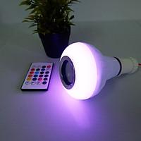 Bóng Đèn LED Thông Minh phát nhạc điều khiển bằng bluetooth + Tặng kèm 1 đèn led trang trí hình chai màu ngẫu nhiên