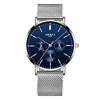 Đồng hồ thời trang công sở nam NIBOSI chính hãng NI2321-1.04 fulbox, chống nước - Chạy full 6 kim, mặt kính Mineral, dây thép lưới cao cấp không gỉ