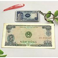 Tờ 5 đồng Việt Nam 1976 [CHẤT LƯỢNG ĐẸP] - tiền sau giải phóng - tặng kèm móc khóa hình tiền xưa